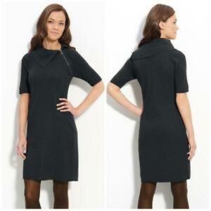 Calvin Klein Asymmetric Neck Sweater Dress NWT L
